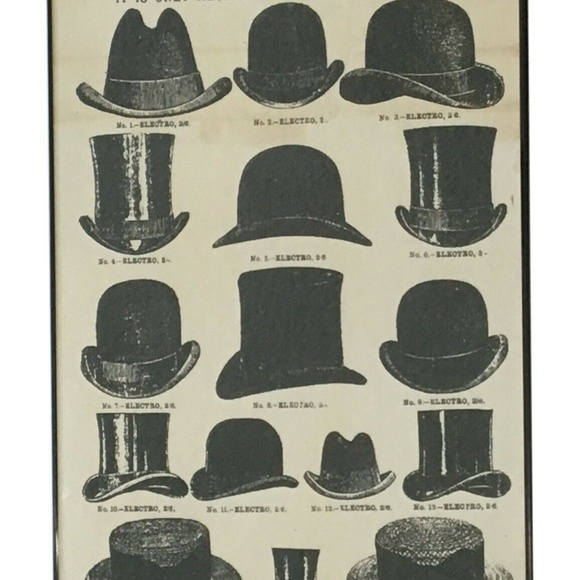 Onlinepartycenter Other - Vintage Style Hats Framed Wall Art